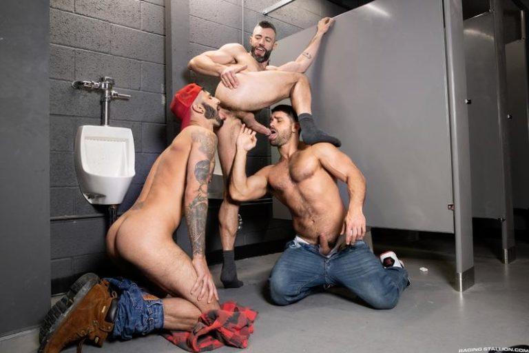 Raging-Stallion-sexy-barebacking-threesome-Cole-Connor-huge-raw-dick-bare-fucking-Romeo-Davis-Beau-Butler-0-image-gay-porn