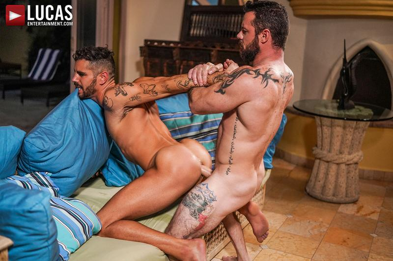 Horny-ripped-Latin-stud-Valentin-Amour-bare-asshole-raw-fucked-Sergeant-Miles-massive-dick-Lucas-Entertainment-0-image-gay-porn