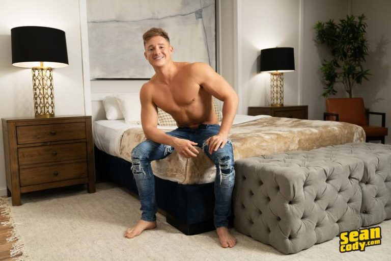 Sexy-young-muscle-hunk-Max-Campbell-strips-nude-stroking-0-image-gay-porn