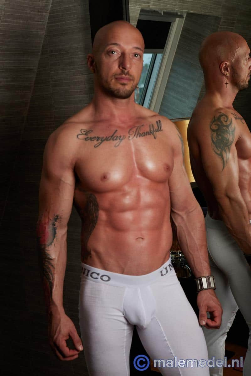 Horny-muscle-stud-MaleModel-Jozef-aka-Attila-Kardos-shows-off-ripped-body-huge-8-inch-uncut-cock-0-image-gay-porn