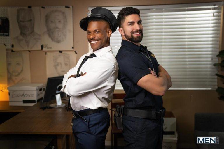 Men-hot-muscle-stud-Nick-LA-bare-asshole-raw-fucked-black-cop-Adrian-Hart-huge-cock-0-image-gay-porn