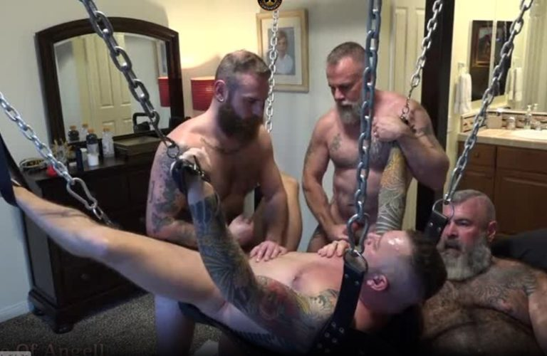 Young-Son-Sling-Foursome-Bareback-Fucking-House-of-Angell-Honest-Gay-Porn-Site-Review